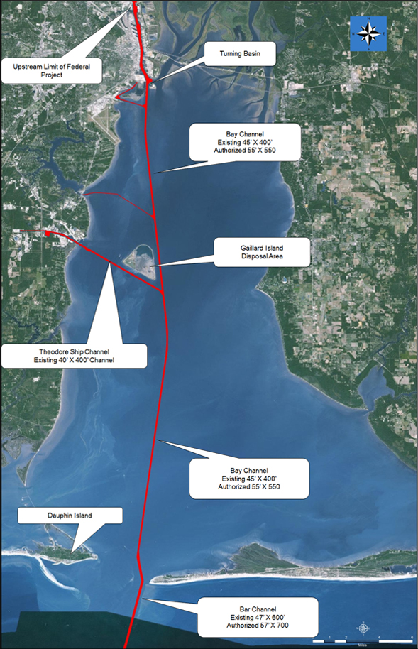 Mobile Harbor Project Plan Map
