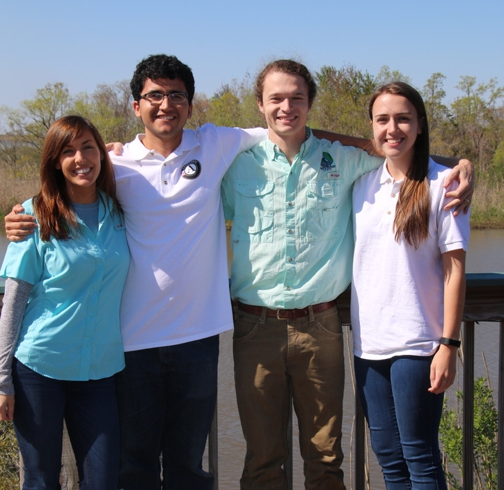 Baykeeper Program staff with Ellie and Diego at 5 Rivers.