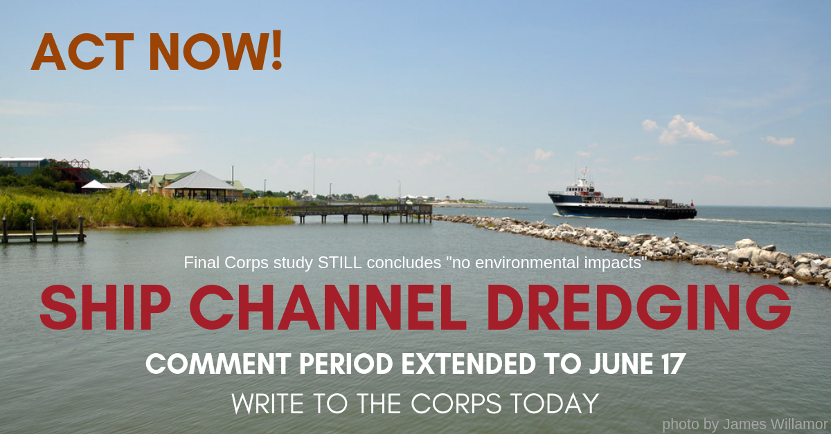 """The final Corps study STILL concludes """"no environmental impacts"""" to dredging the Bay."""