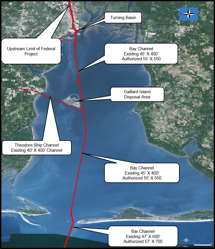 Proposed dredging map from  Corps website