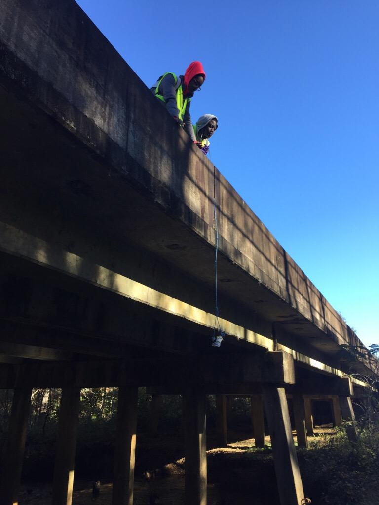 Citronelle Monitoring with bridge sampler Kassey, Fall 2018.JPG