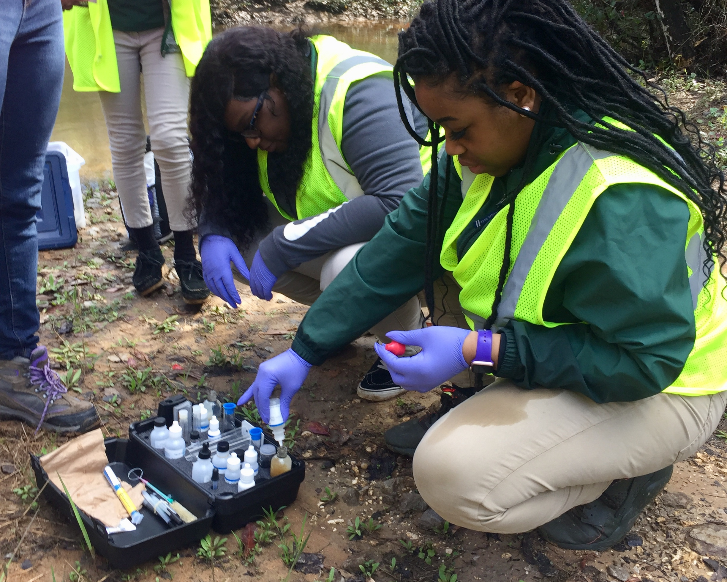 Students at Vigor High School monitor water quality through our Strategic Watershed Awareness & Monitoring Program (SWAMP).