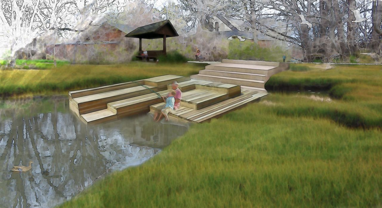Three Creeks Park rendering courtesy of Brian Tonetti. Seven Canyons Trust 2015.