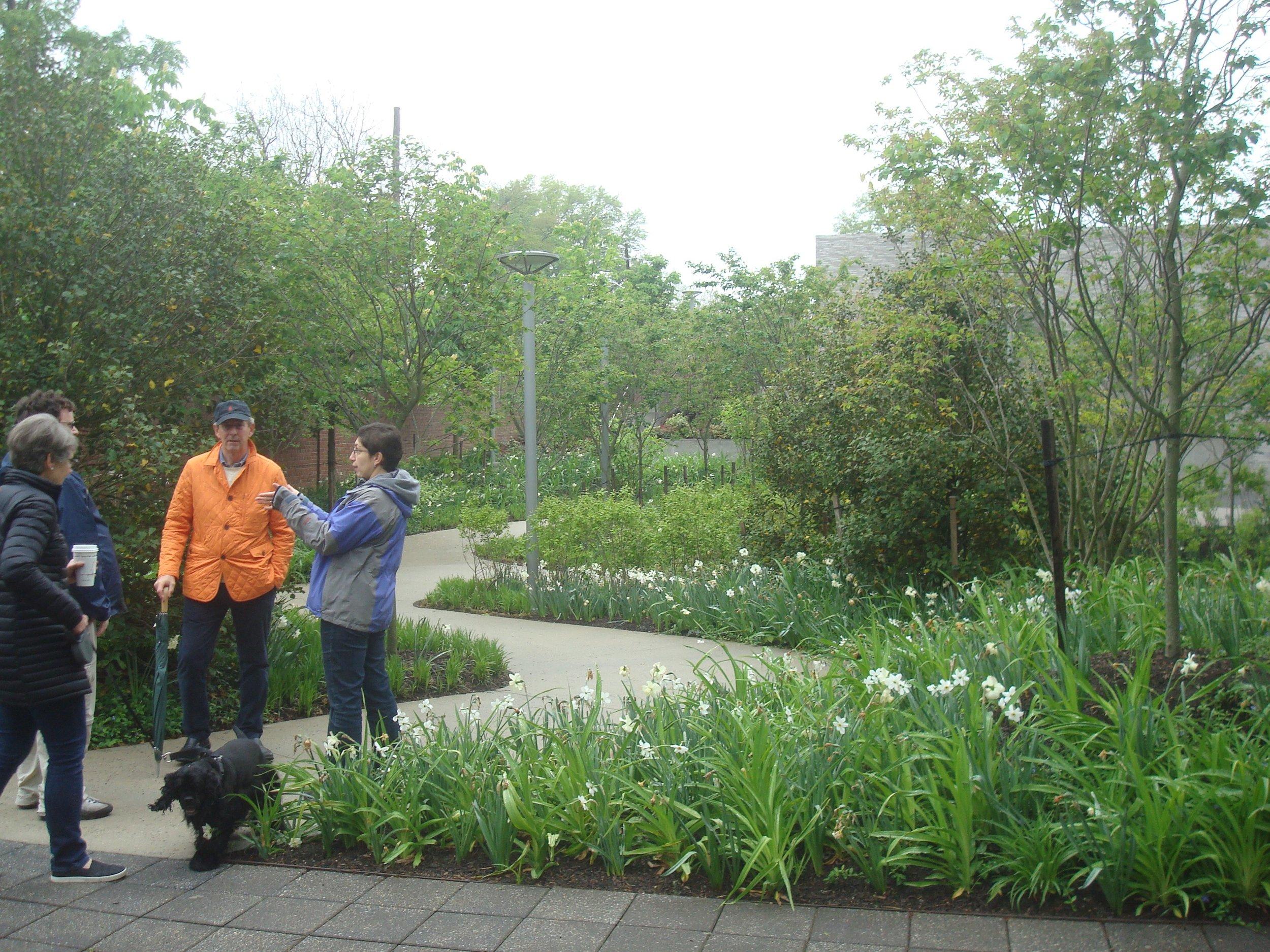 Exploring walking paths on the Princeton 'Jane Jacobs Walk'.