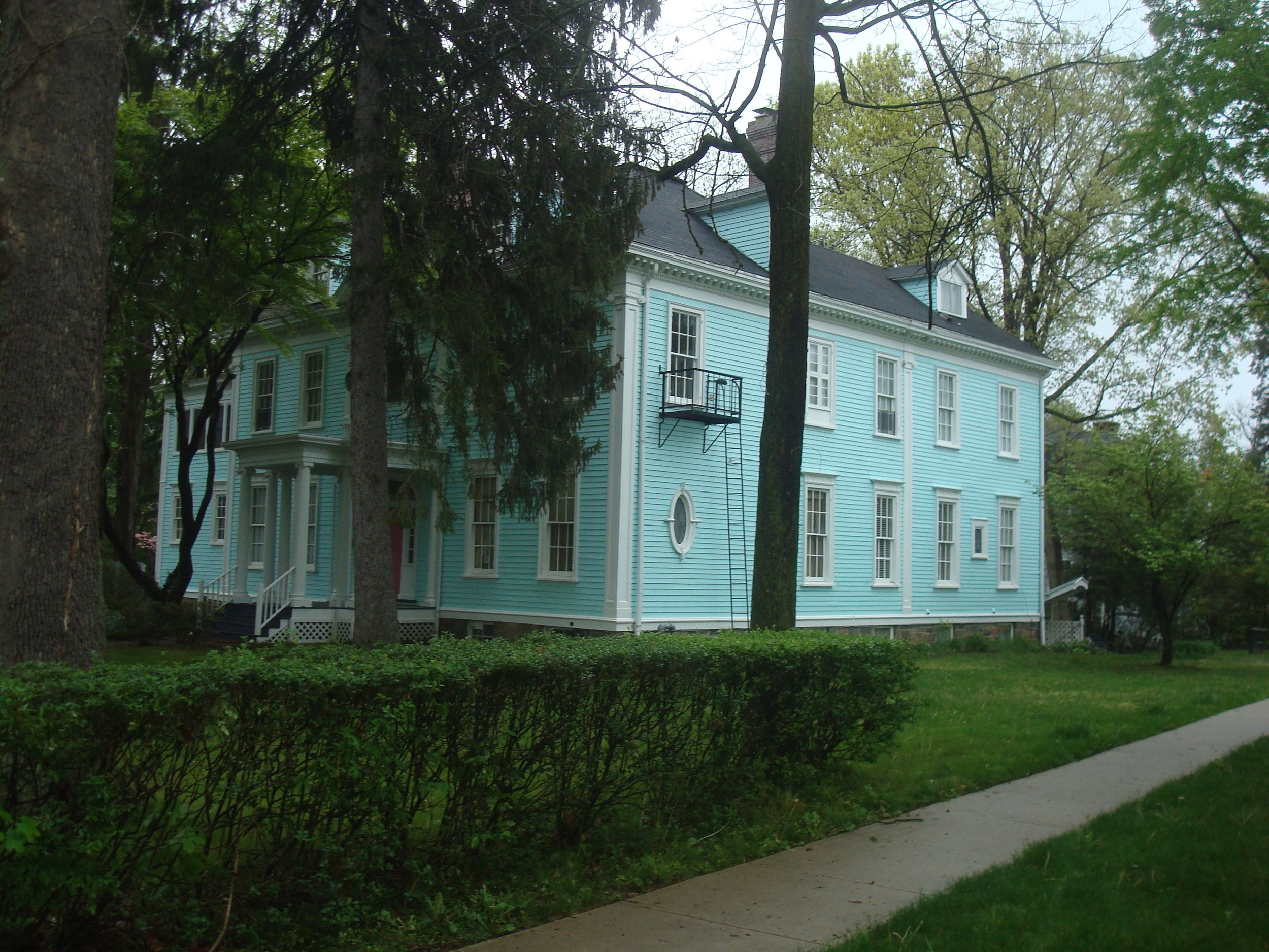 Mansion for rent,in Key West colors, at Nassau and Princeton Avenue.