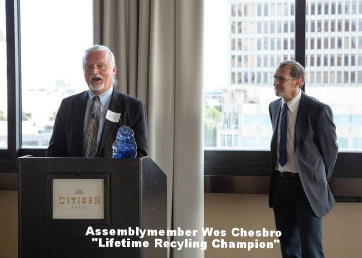 """Assembly Member Wesley Chesbro: """"Lifetime Recyling Champion"""""""