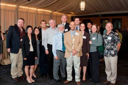 CAW staff and board members at CAW's 34th BirthdayEvent in 2011