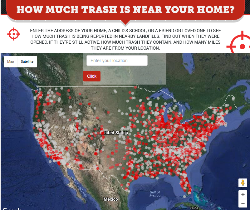 A Map of America's Landfills... All of Them — Californians ... Go To The Map on get your map, follow the map, funny map, go to home, put on the map, read the map, map key, check the map, map of the map, or map, search the map, find the map, about the map, how to use the map,