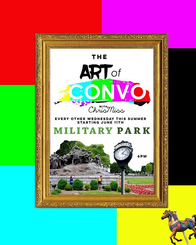 As you know the @artofconvo is my baby. What started as a passion project , and a way for me to create a safe space for myself and others to exchange ideas and opinions, has grown to be that PLUS more. I'm so excited to be partnering with @militaryparknwk to bring you The ART of CONVO Military Park Edition. This program is FREE and open to the public. If you're curious about exactly what it is , come cure you're curiosity and join use every Wednesday starting this this Wednesday June 11 at 6pm! See you soon!