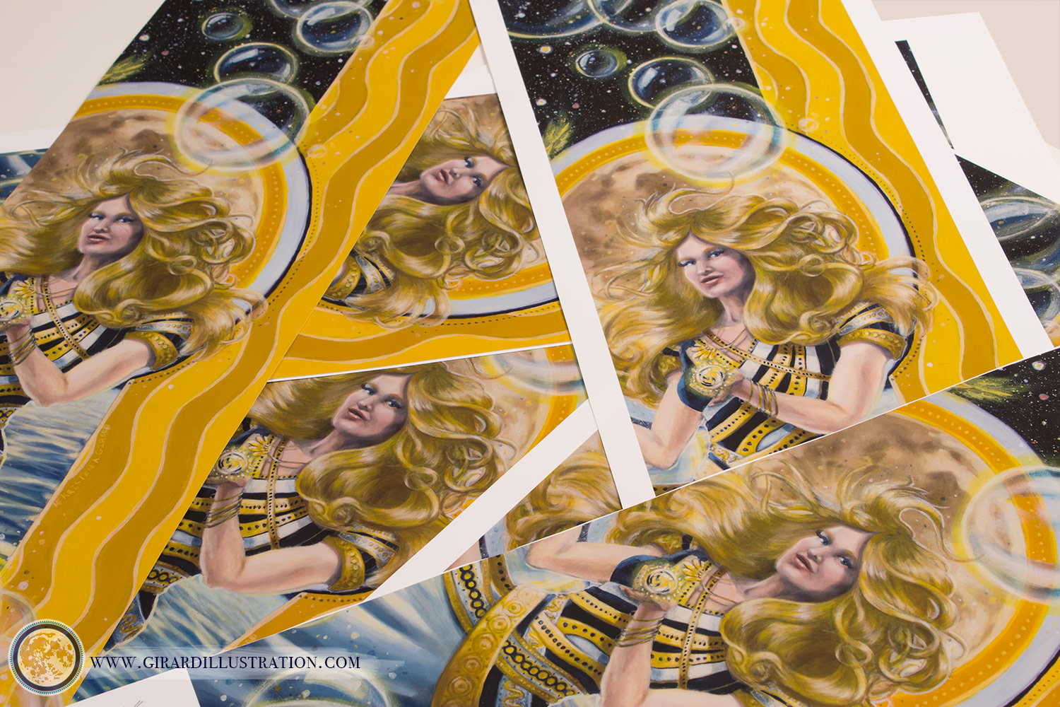 Air Magic  © by Kristen Girard. A behind the scenes look at test strips printed for the  Air Magic limited edition prints . Test strips are printed samples used for quality control to ensure that the final print is as close to the original artwork as possible.