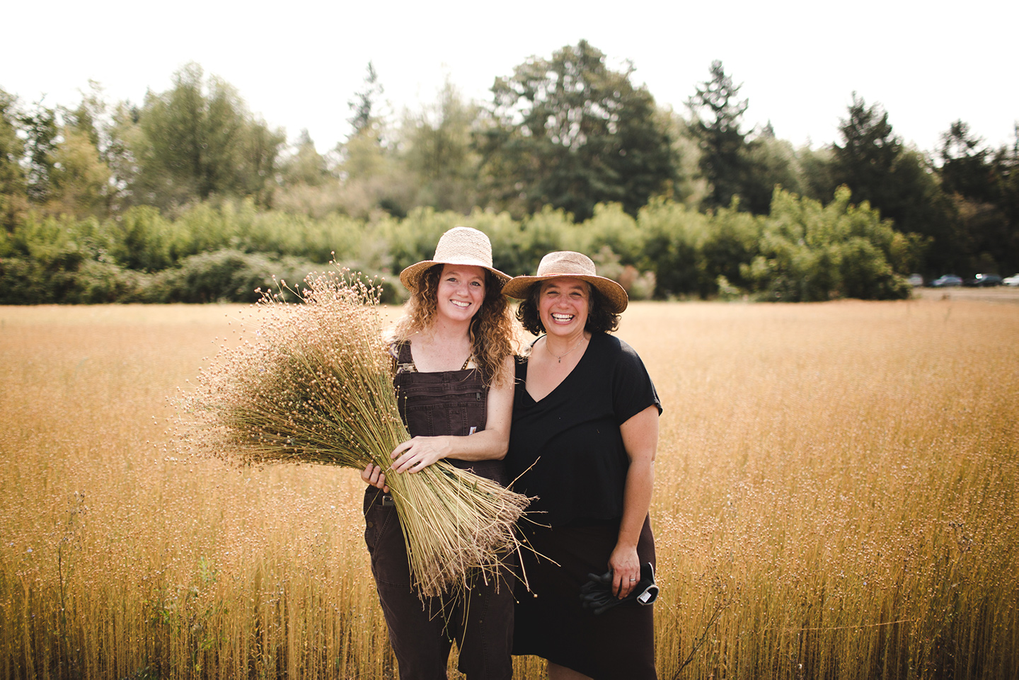 Fibrevolution - Two women determined to bring flax back to Western Oregon. For In Good Tilth.