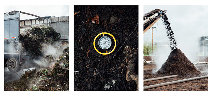 Dirty Work - The grimy reality of Portland's influential municipal composting program. For Edible Portland.Photography by Nolan Calisch