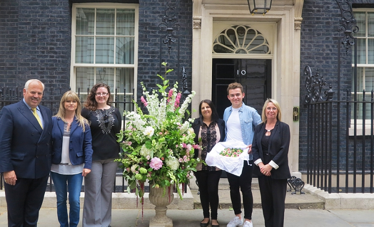 British Flowers Week 2015 - Flowers in No 10 downing Street
