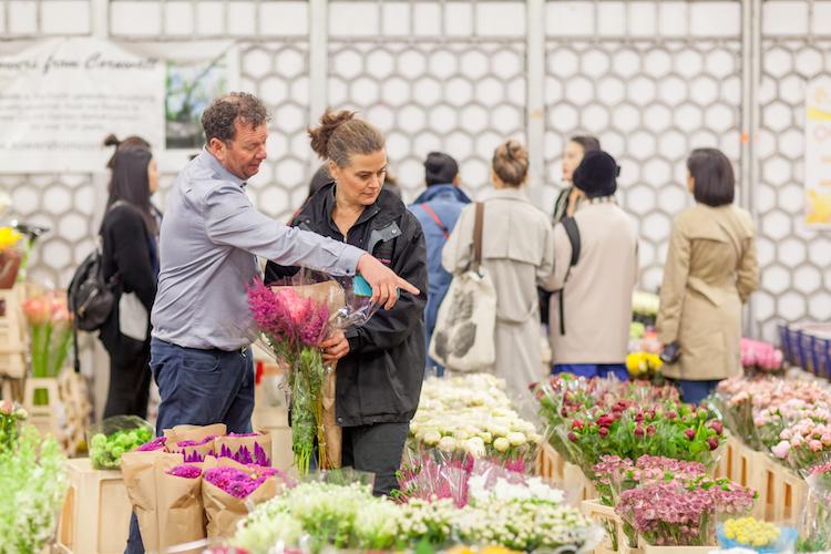 Day 3 British Flowers Week 2016, featuring Graeme Diplock from Zest Flowers and Amanda Austin in the Flower Market, presented to you by New Covent Garden Flower Market