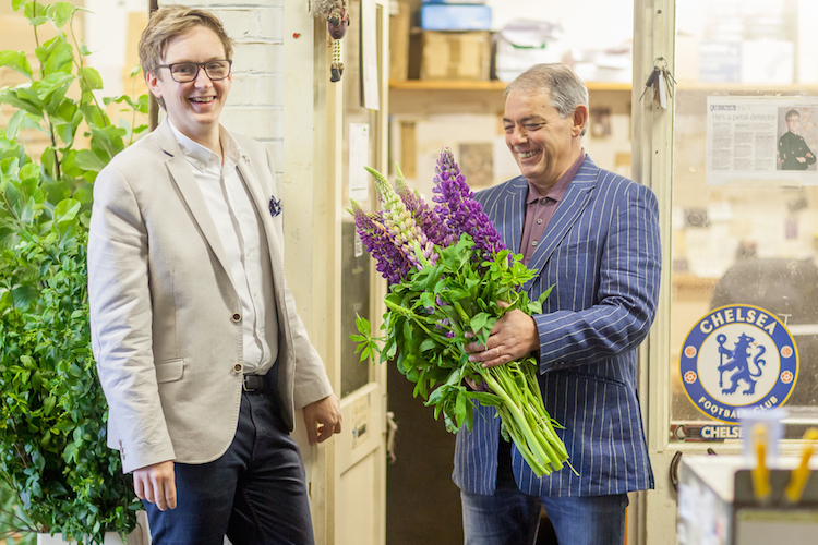 Day 1 British Flowers Week 2016, featuring Peter Green of Smith & Green, and Phillip Hammond of The Dorchester, presented to you by New Covent Garden Flower Market