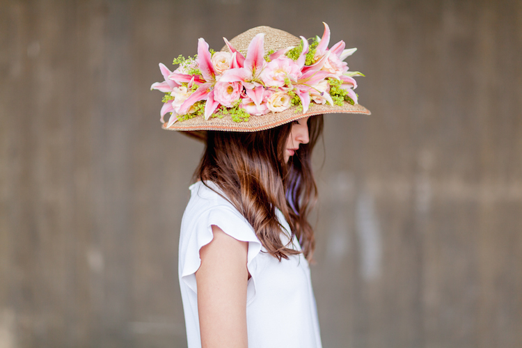 Day 1 British Flowers Week 2016, a gorgeous summer hat created by Phillip Hammond of The Dorchester, presented to you by New Covent Garden Flower Market