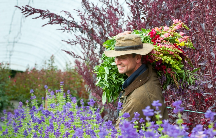 British Flowers Week 2016, featuring Rob English the Farm Manager of The Real Flower Co, presented to you by New Covent Garden Flower Market