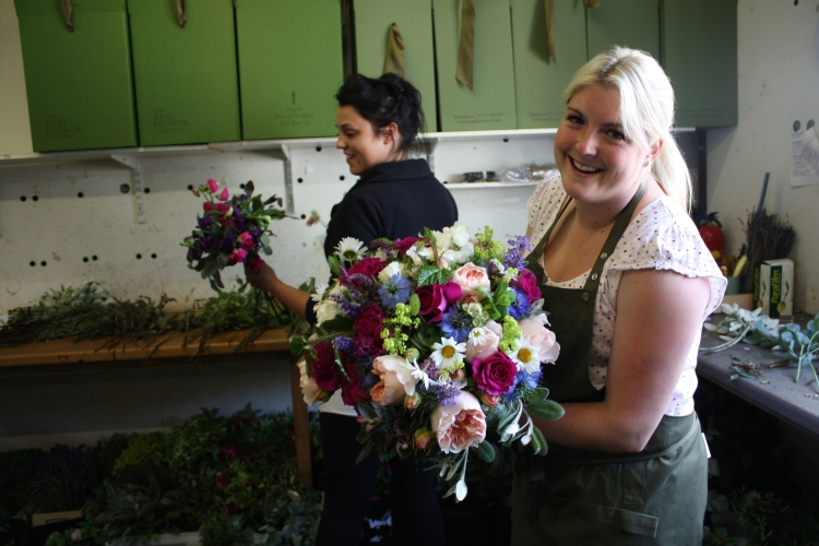 British Flowers Week 2016 The Real Flower Co Florists In The Workshop