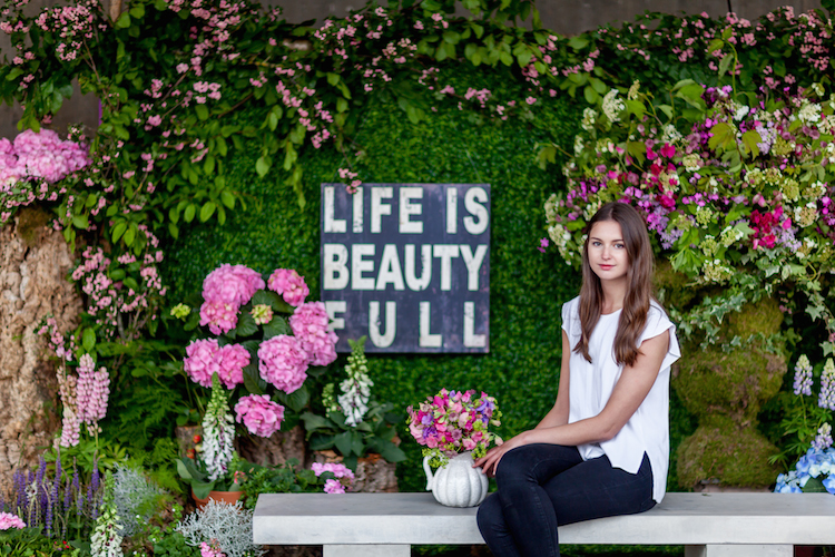 Day 3 of British Flowers Week 2016, featuring a floral installation by Amanda Austin, presented to you by New Covent Garden Flower Market