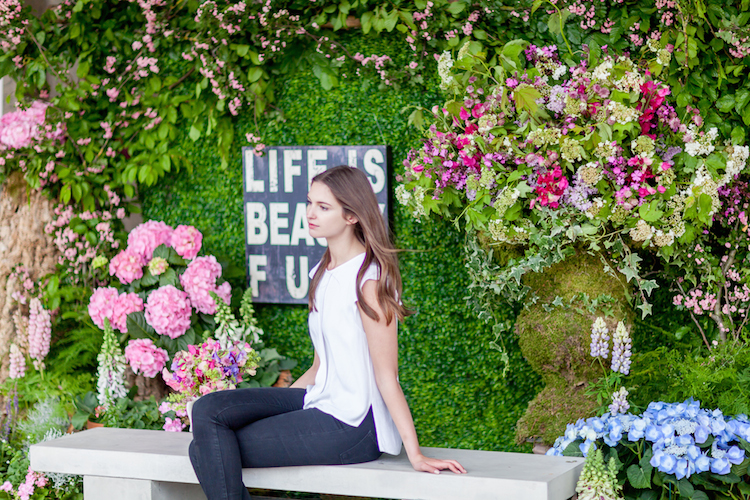 Day 3 of British Flowers Week 2016, featuring a floral installation designed by Amanda Austin, presented to you by New Covent Garden Flower Market.