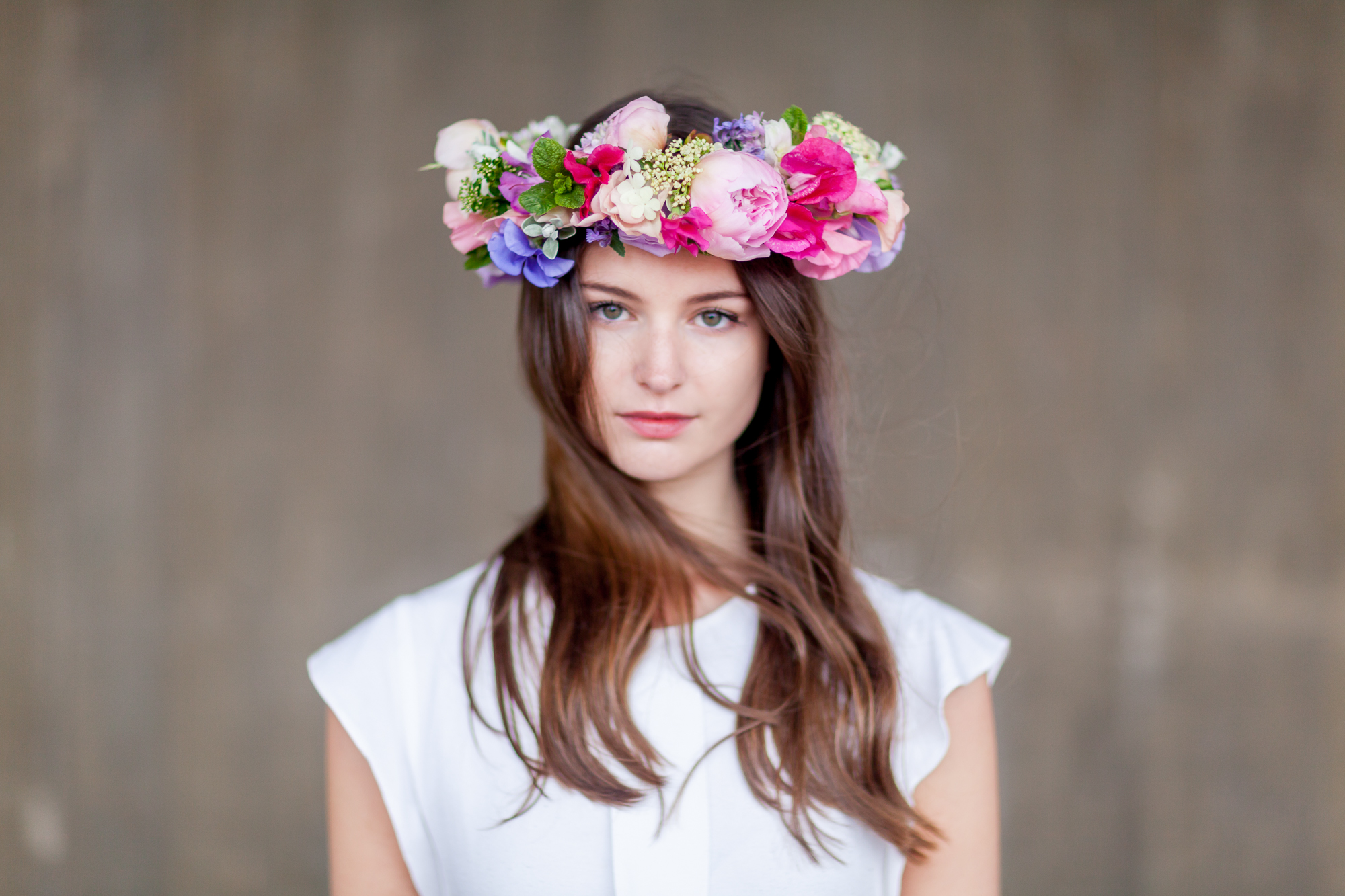 Day 4 of British Flowers Week 2016, featuring A Festive Headpiece designed by Anna and Ellie of The Flower Appreciation Society, presented to you by New Covent Garden Flower Market