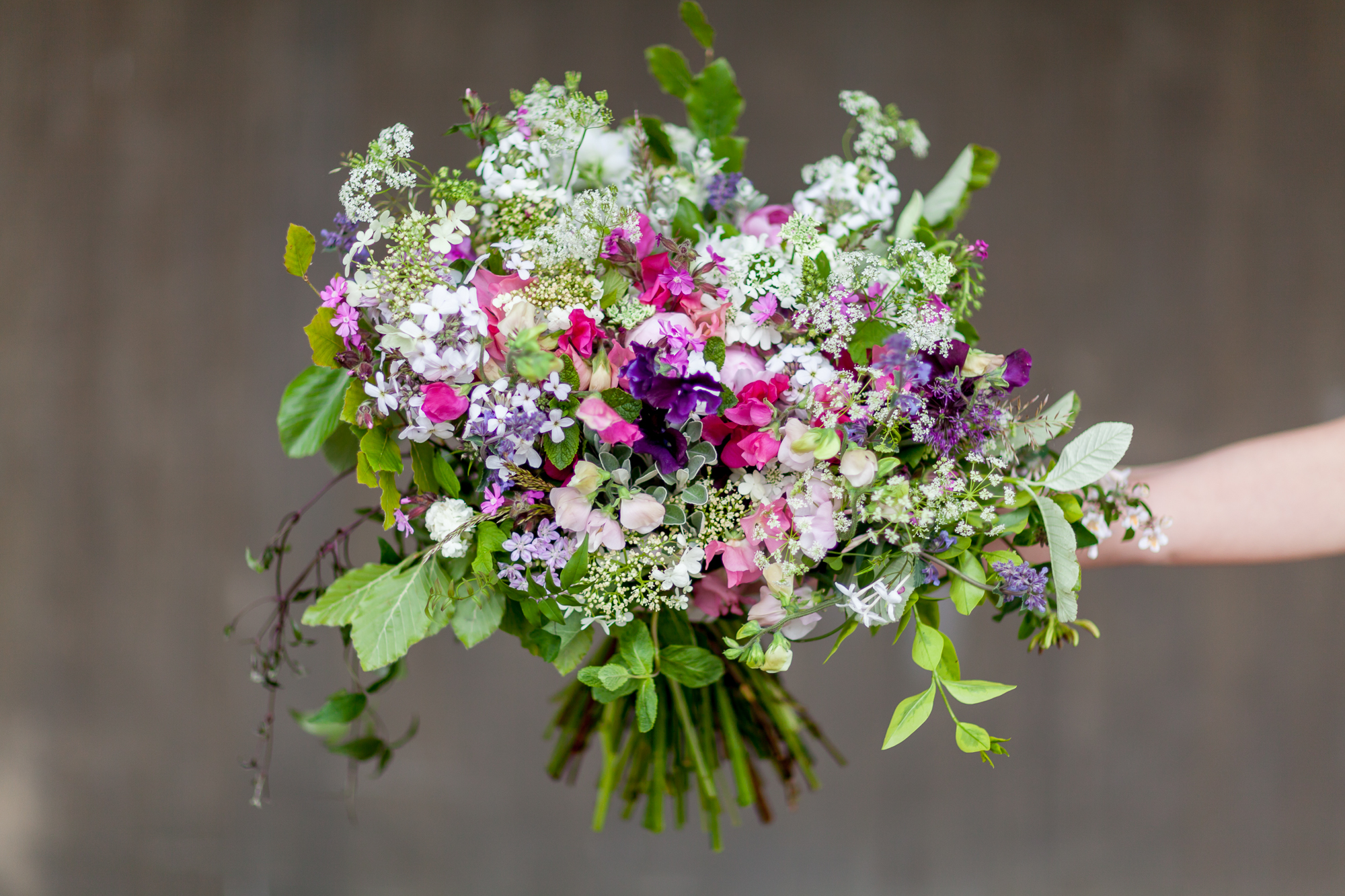 Day 4 of British Flowers Week 2016, featuring a Bouquet designed by Anna and Ellie of The Flower Appreciation Society, presented to you by New Covent Garden Flower Market