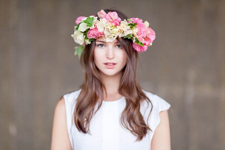 Day 3 of British Flowers Week 2016, featuring a summer festival flower crown designed by Amanda Austin, presented to you by New Covent Garden Flower Market