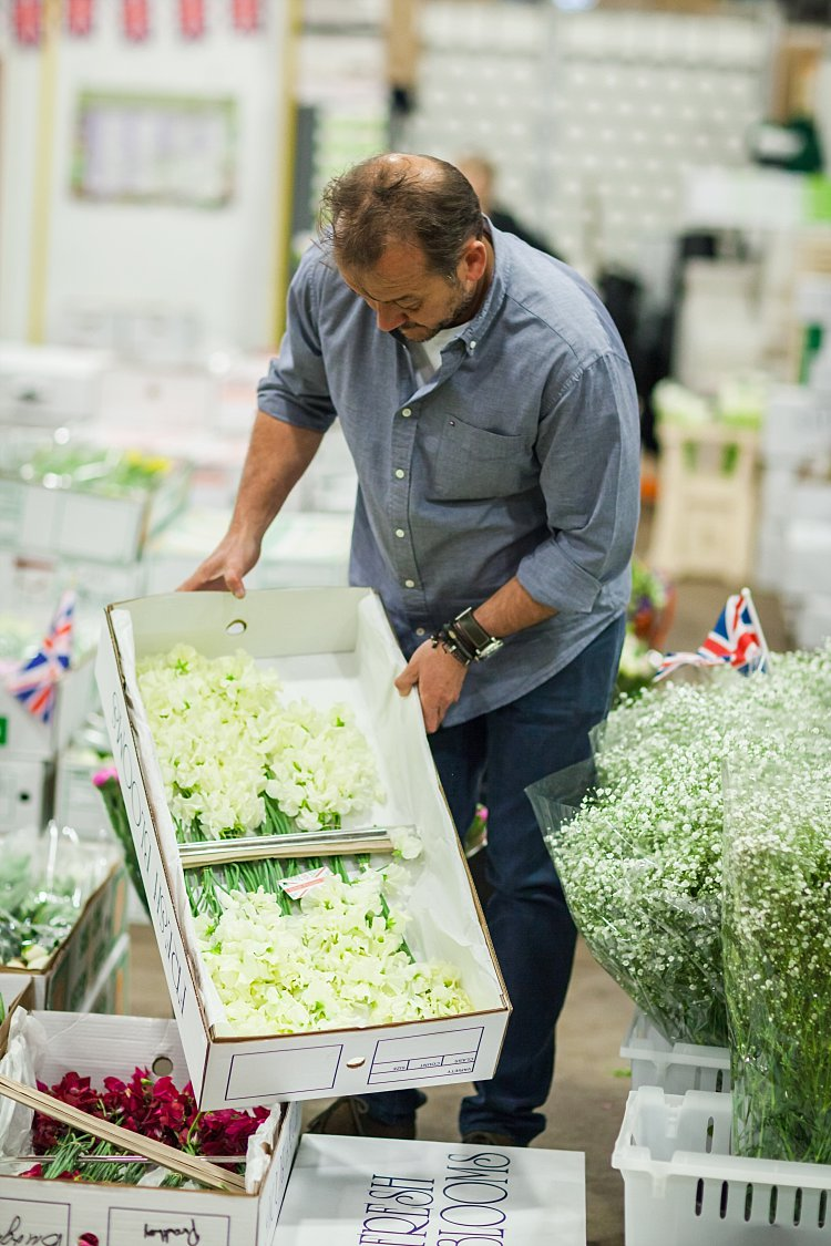 Day 5 of British Flowers Week, featuring Rob Van Helden of Rob Van Helden Floral Design, at the Flower Market, presented to you by New Covent Garden Flower Market