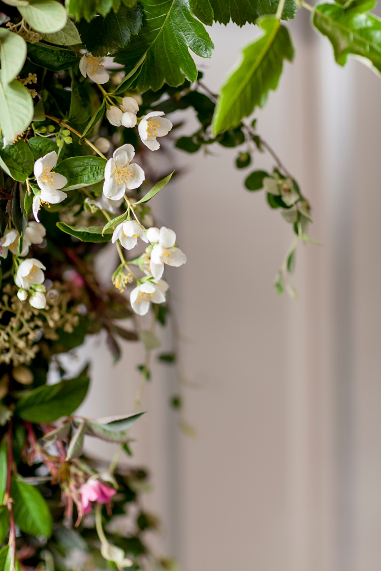Carly Rogers' oversized shower bouquet for British Flowers Week 2017 at New Covent Garden Flower Market
