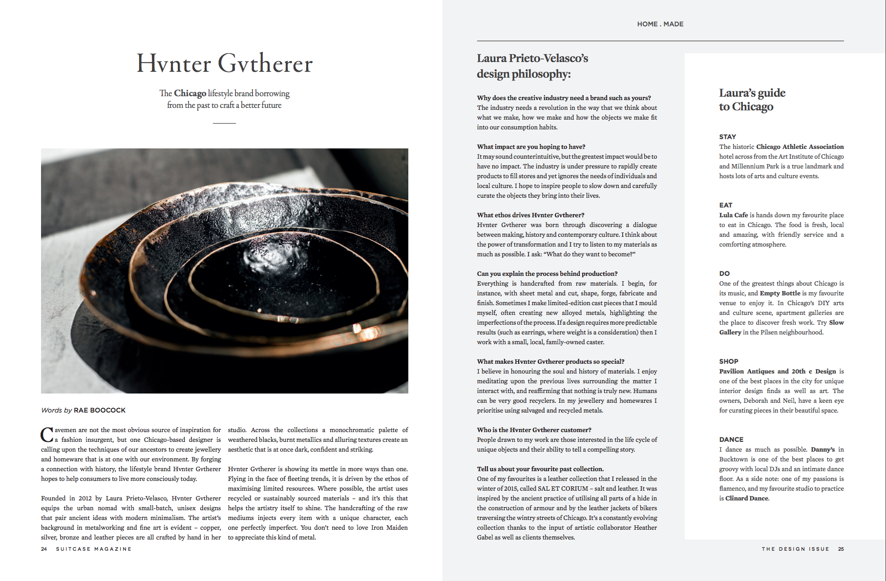 SUITCASE magazine - Vol 22 - Design Issue - Hvnter Gvtherer