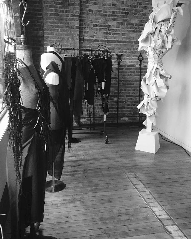 Showing the IRON AGE collection during a Trunk show today 1-4pm hosted by the beautiful @orleansandwinder ~ please drop by to say hi if you are in Detroit! . . . #Hvntergvtherer #ironage #linen #silkorgana #garments #handmade #homewares #accessories #spears