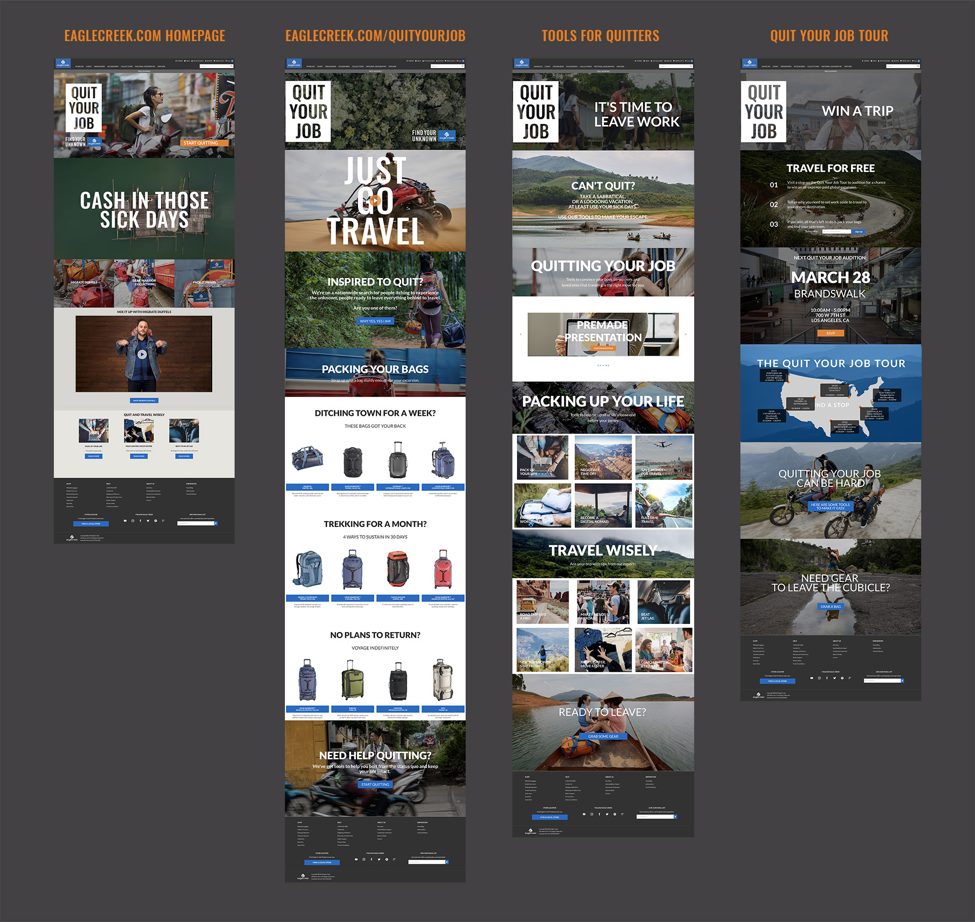 EagleCreek.com complete website design and content creation. Homepage and campaign landing page with two subpages of content and additional resources (you'll see more of those details below.