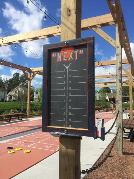Shuffleboard Sign Up Board