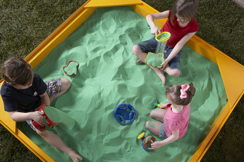 It's important that the colored sand is safe for play with children.