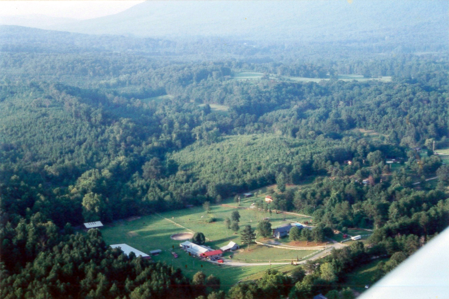 Arial view of Georgia Horseshoeing School. Photo taken by Ginger Casey.