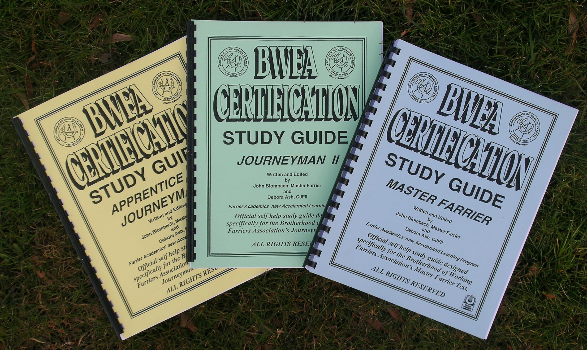 BWFA Study Guides