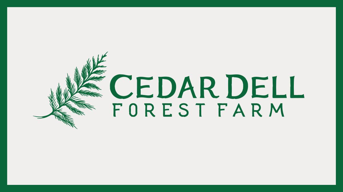 Cedar Dell Forest Farm Logos