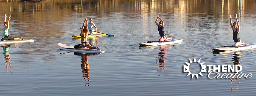 Idaho River Sports's SUP Team on Quinn's Pond