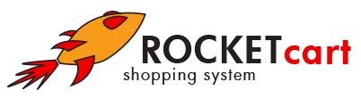 The original RocketCart logo design by Dave Green in 2002