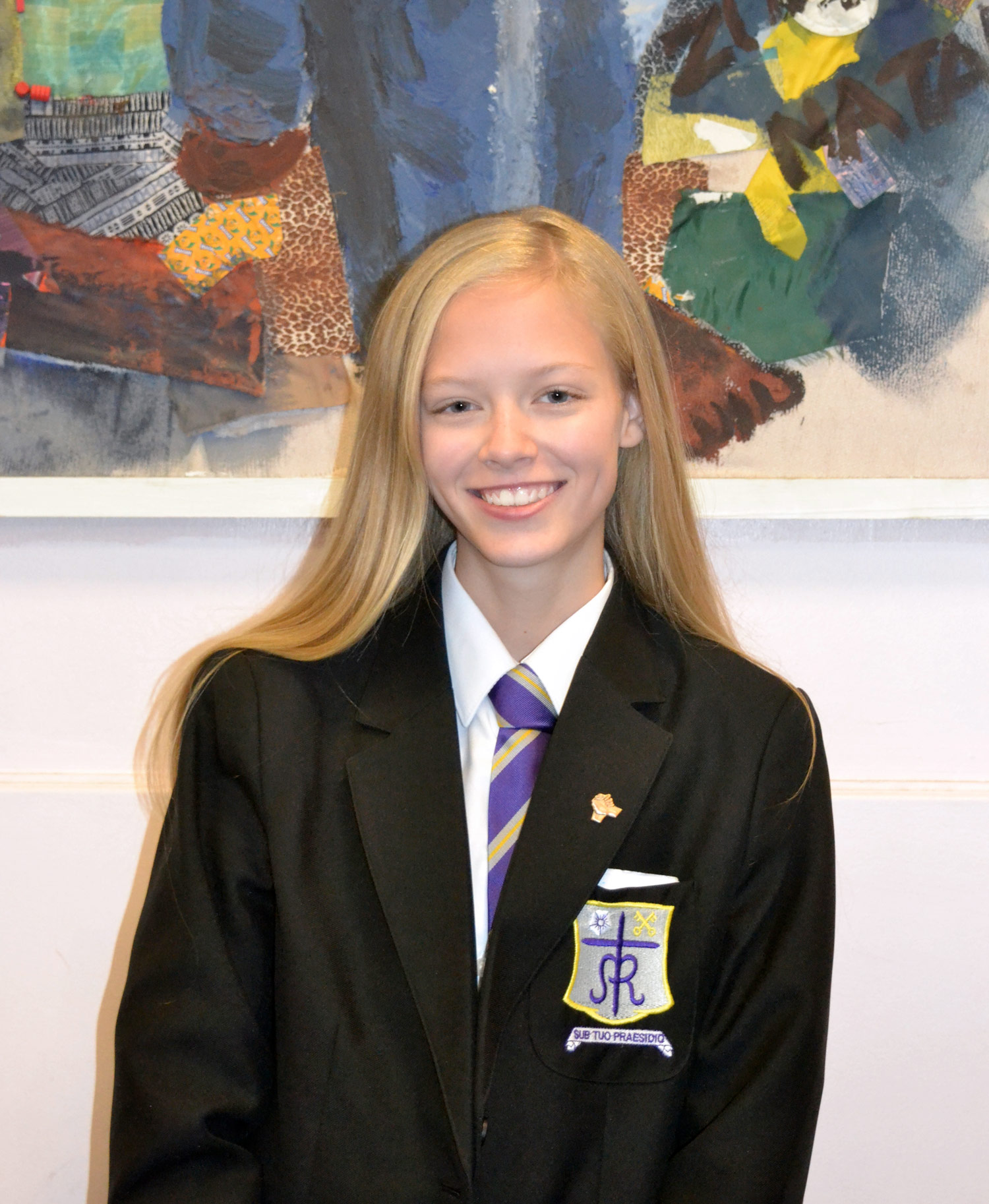 Photo: Caitlin Copsey (Year 9) with her Bronze Award which was presented during assembly