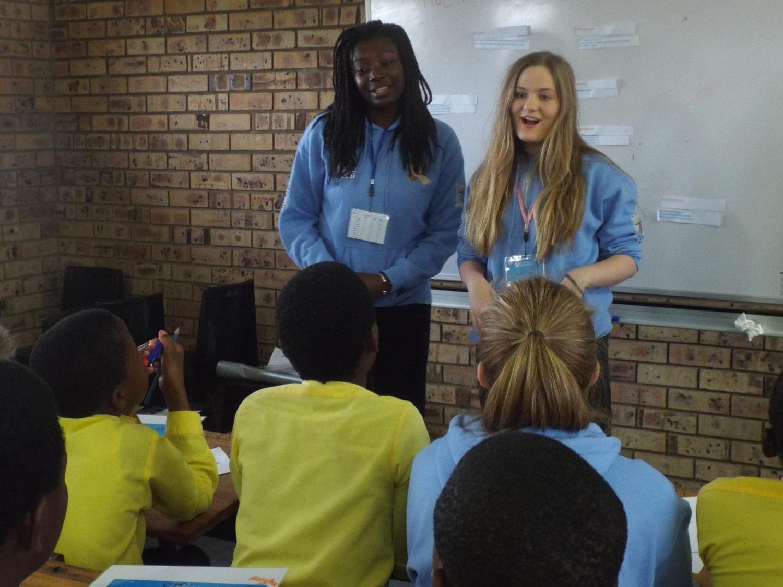 Photo: Jayda and teaching poetry at Mnyakanya