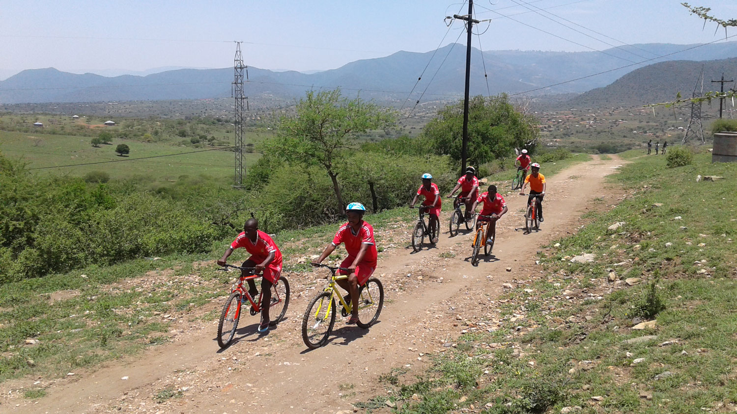 Innovation: Mnyakanya community cycling training as part of a University of Leeds Gryphon's Abroad project.