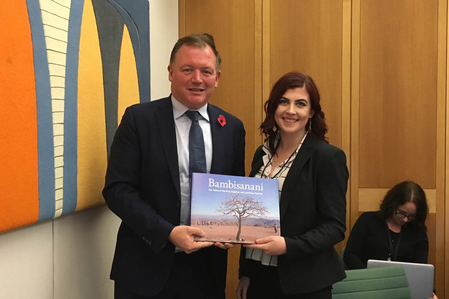 Damian Collins MP with Sylvia Cullen, Year 13