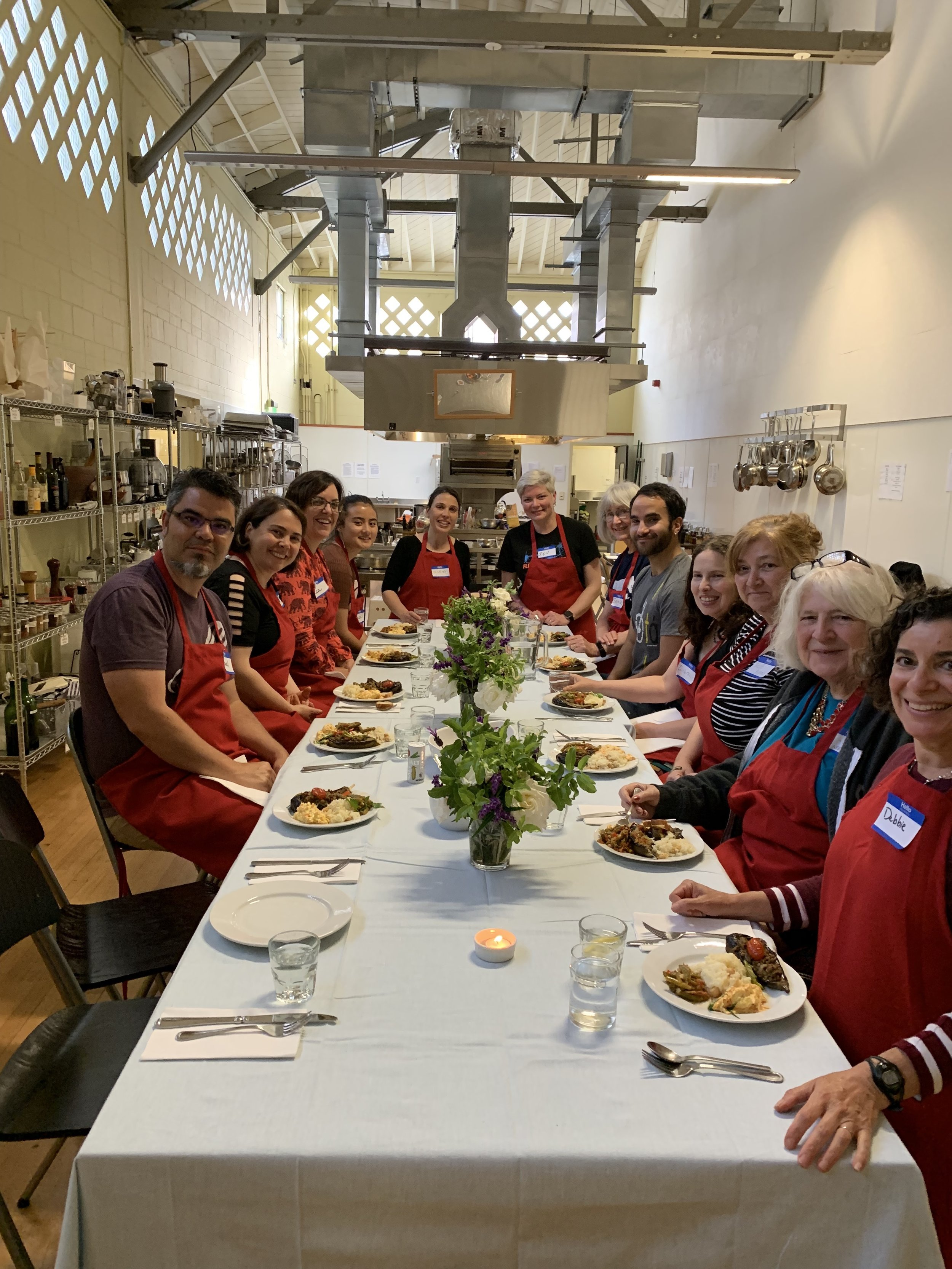 Photo from our June 2019 Culinary Gathering with Isil Arican