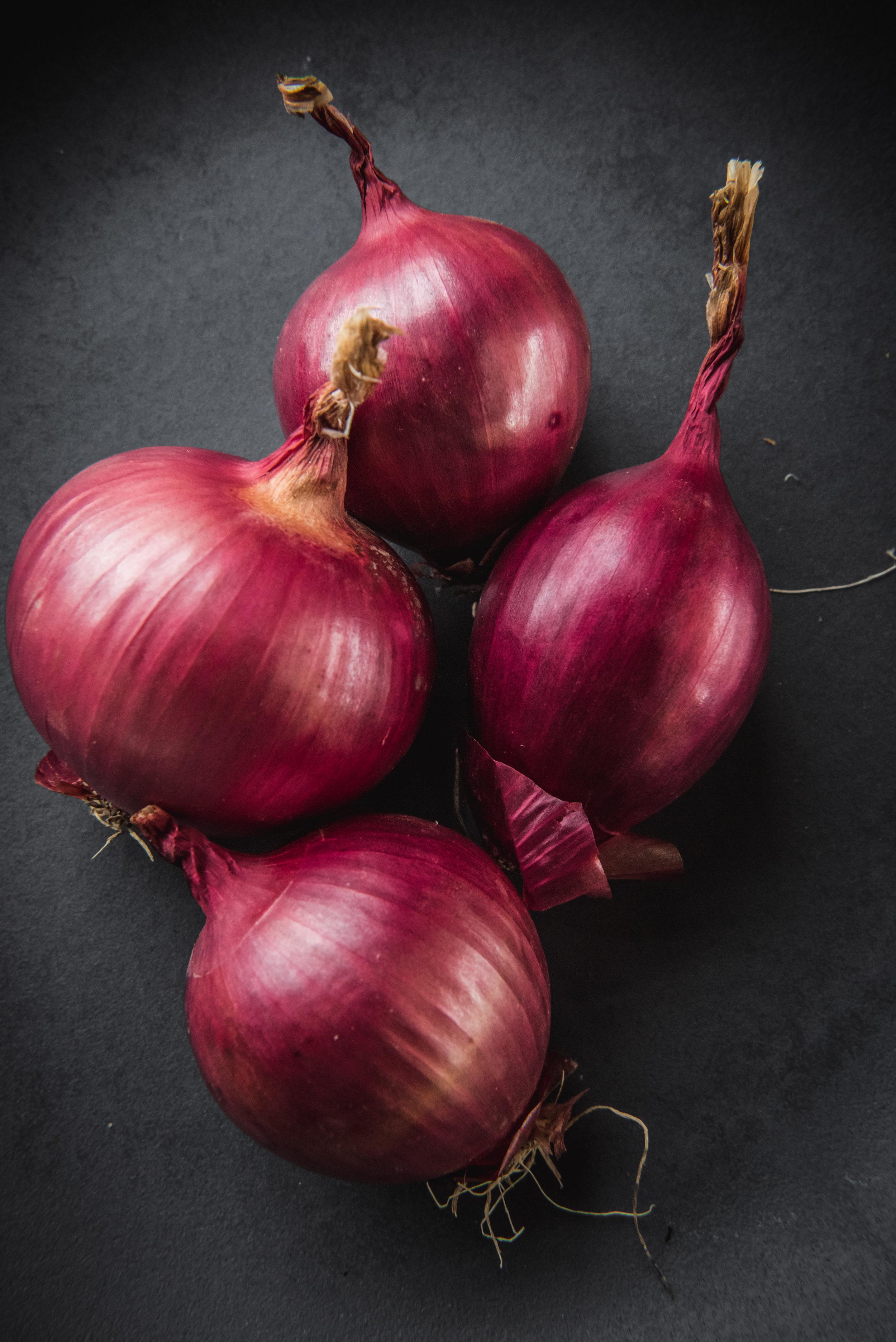 Zohlrabi? nope! red onions…