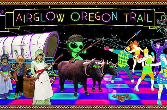 **Tonight** join us for a very unique experience with AIRFLOW Oregon Trail! This is definitely a one-of-a-kind event you don't want to miss! . . . #qenoteca #airglow #oregontrail
