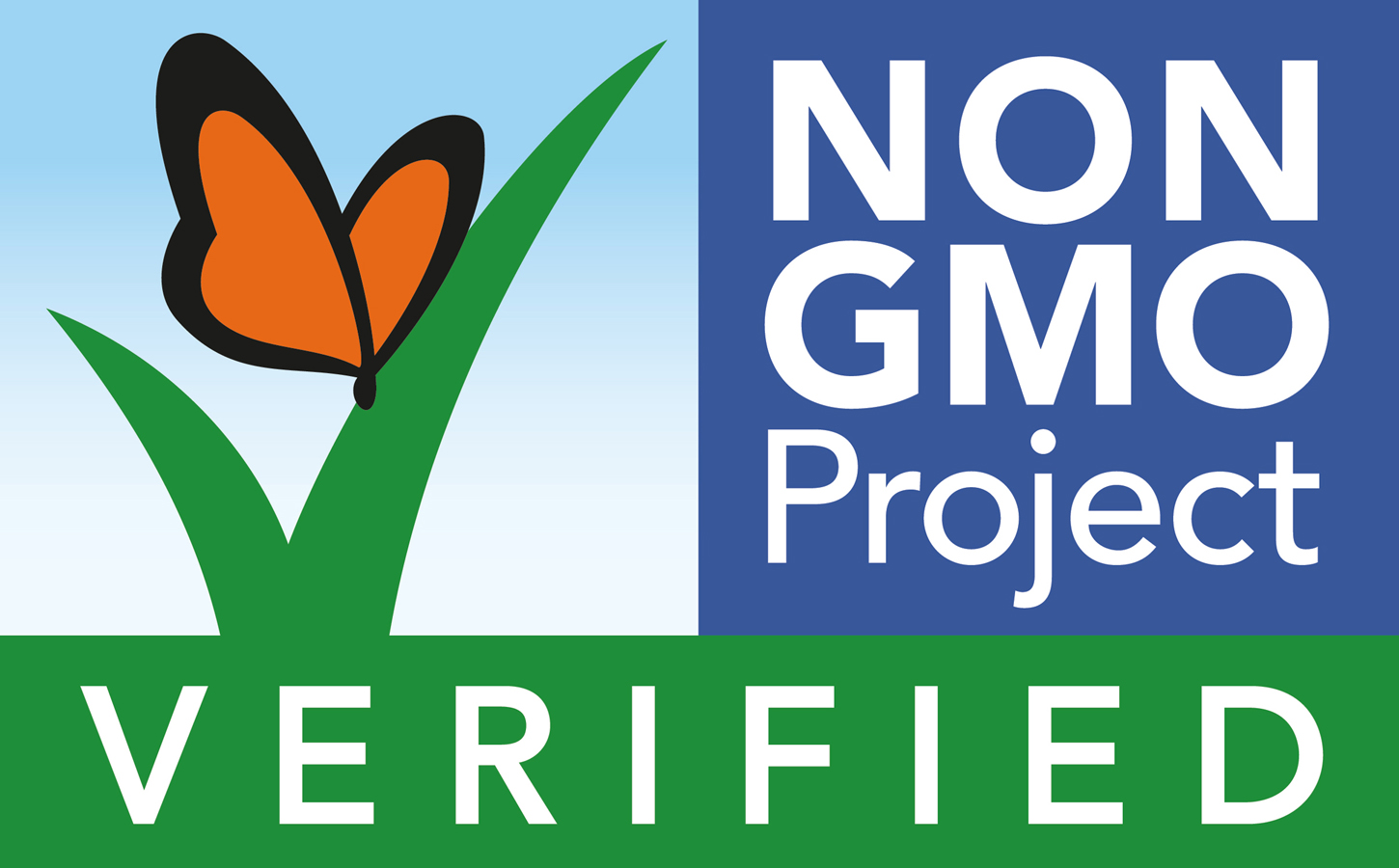 Look for this label to be sure a product is free from GMO's.