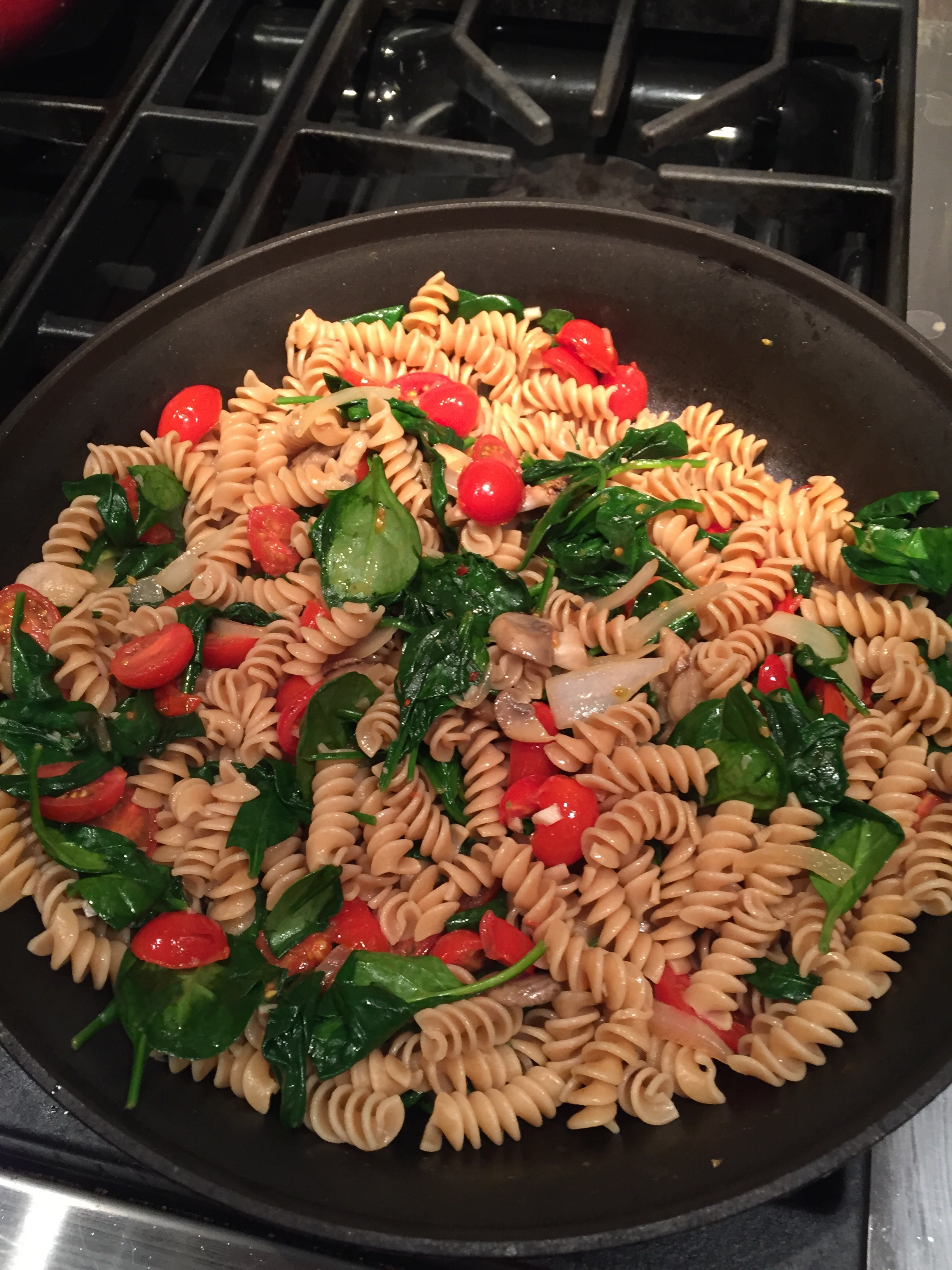 Click here to get Giada's recipe for Fusilli and Asiago Cheese.  Surprised she doesn't emphasize using whole wheat pasta...but as you can see above, even whole wheat pasta looks beautiful and delicious with this recipe!