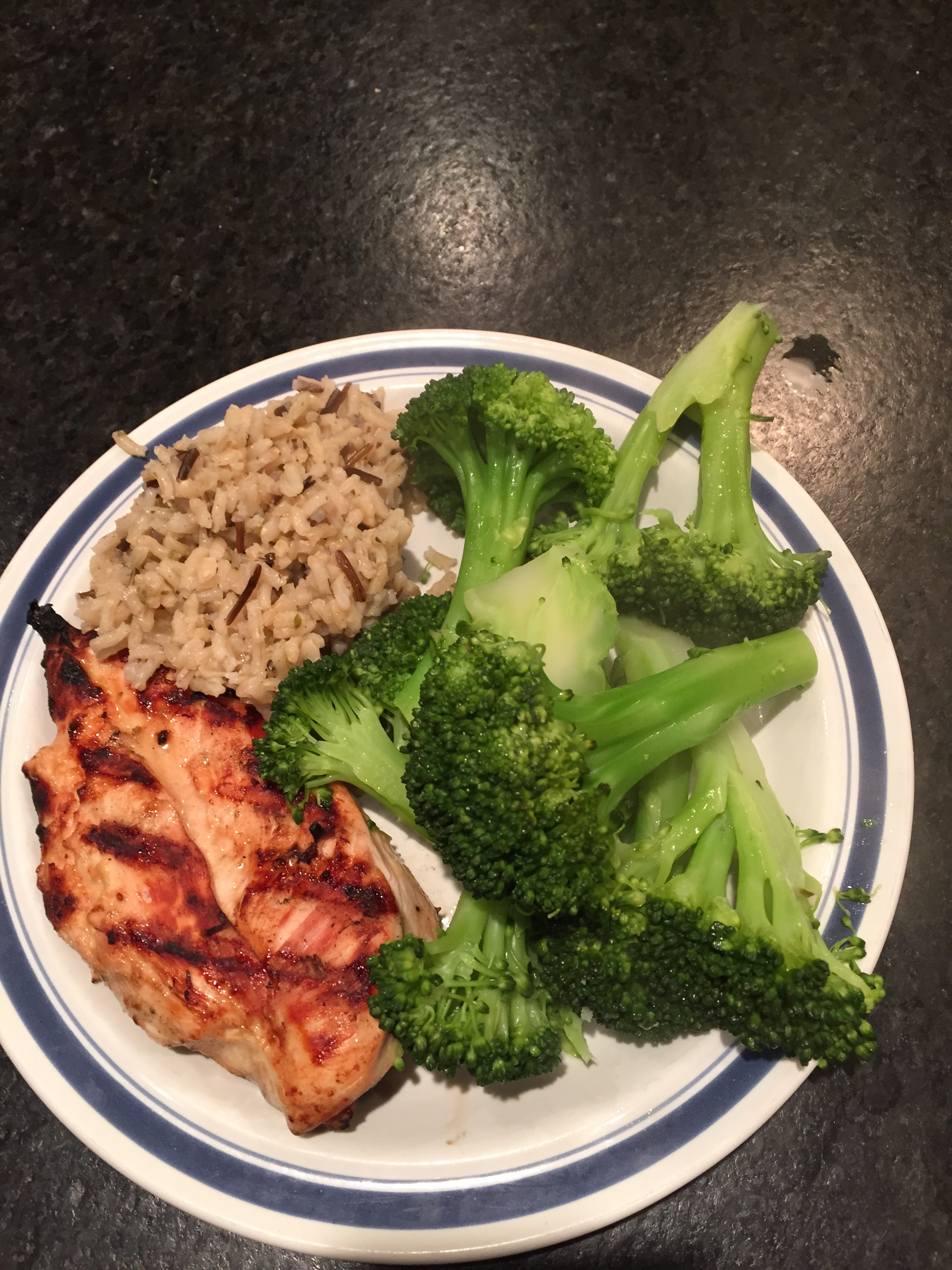 The Best Grilled Chicken! Notice half the plate is veggies! I used organic Smart Chicken which is always tender and juicy!