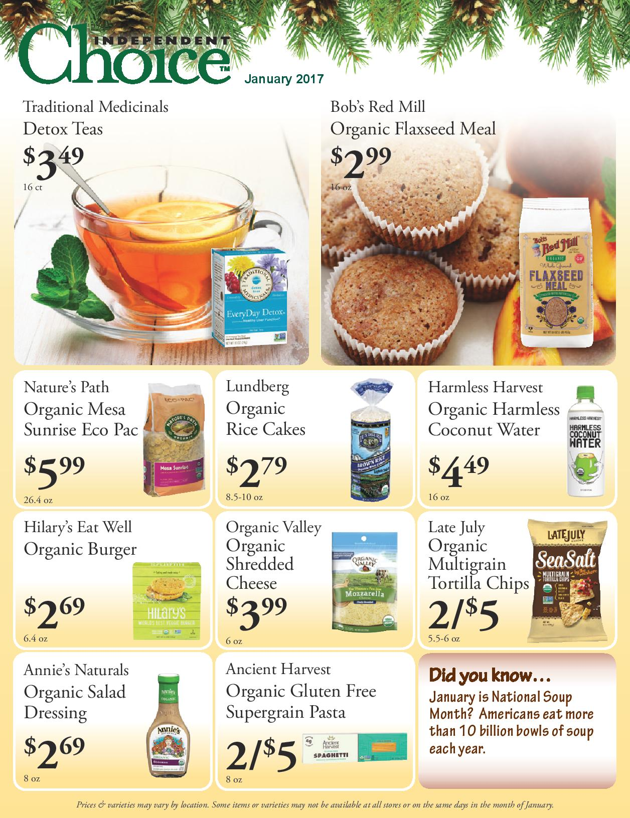 Click here to see our January sales flyer!
